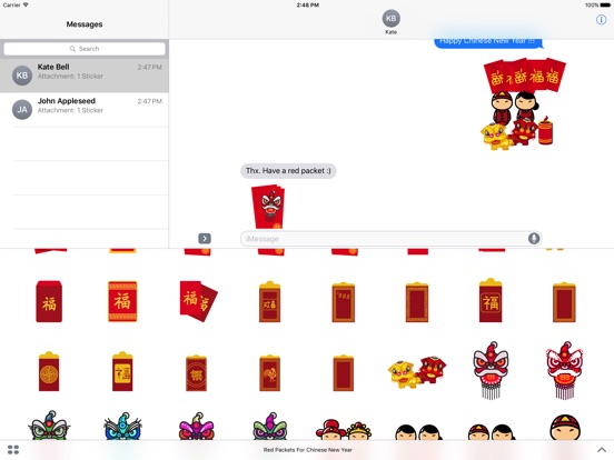 Red Packet For Chinese New Year Stickers-ipad-1