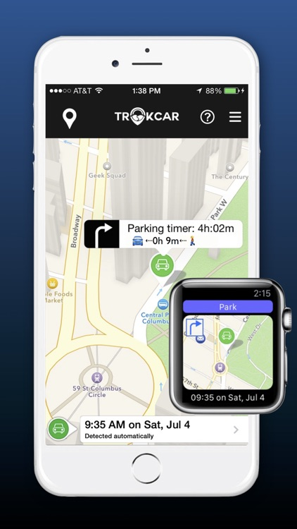 TrakCar - Find Where & for How Long You Parked Car screenshot-1