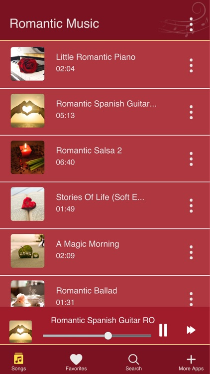 Love Songs and Romantic Music screenshot-0