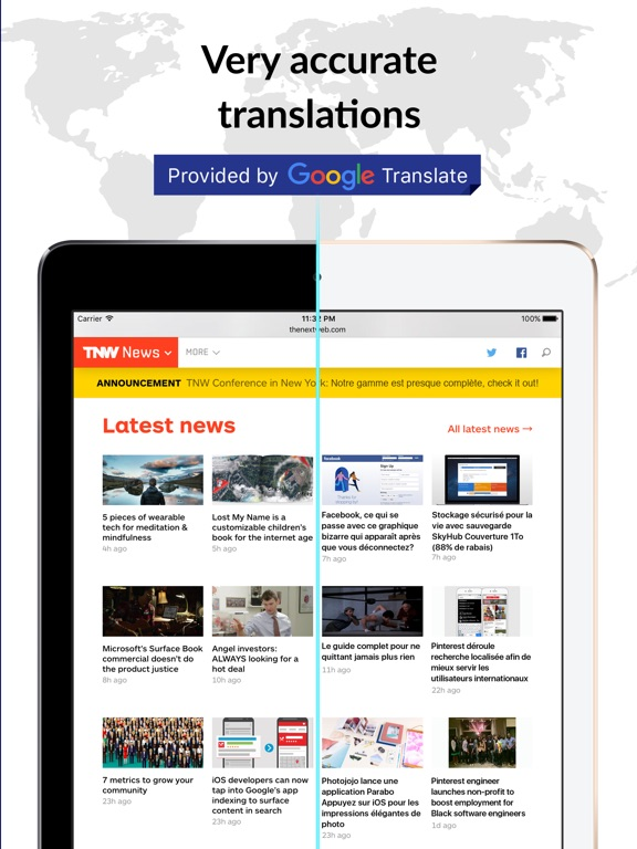 XYZ Translate - Browser Widget Screenshots
