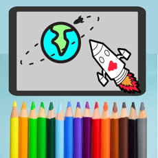 Activities of Rocket Space Coloring - Planets and Stars Fun