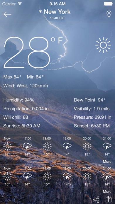 Weather radar - map weather forecast channel屏幕截圖3
