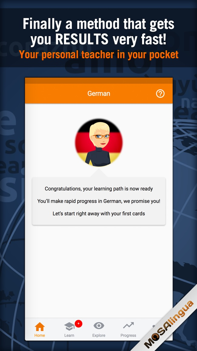 Learn German - MosaLingua Screenshot