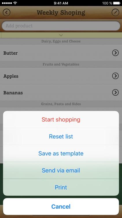 Grocery list PX screenshot-4