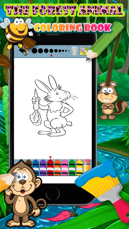 Forest Animal pait coloring pages for girls & boys screenshot-3