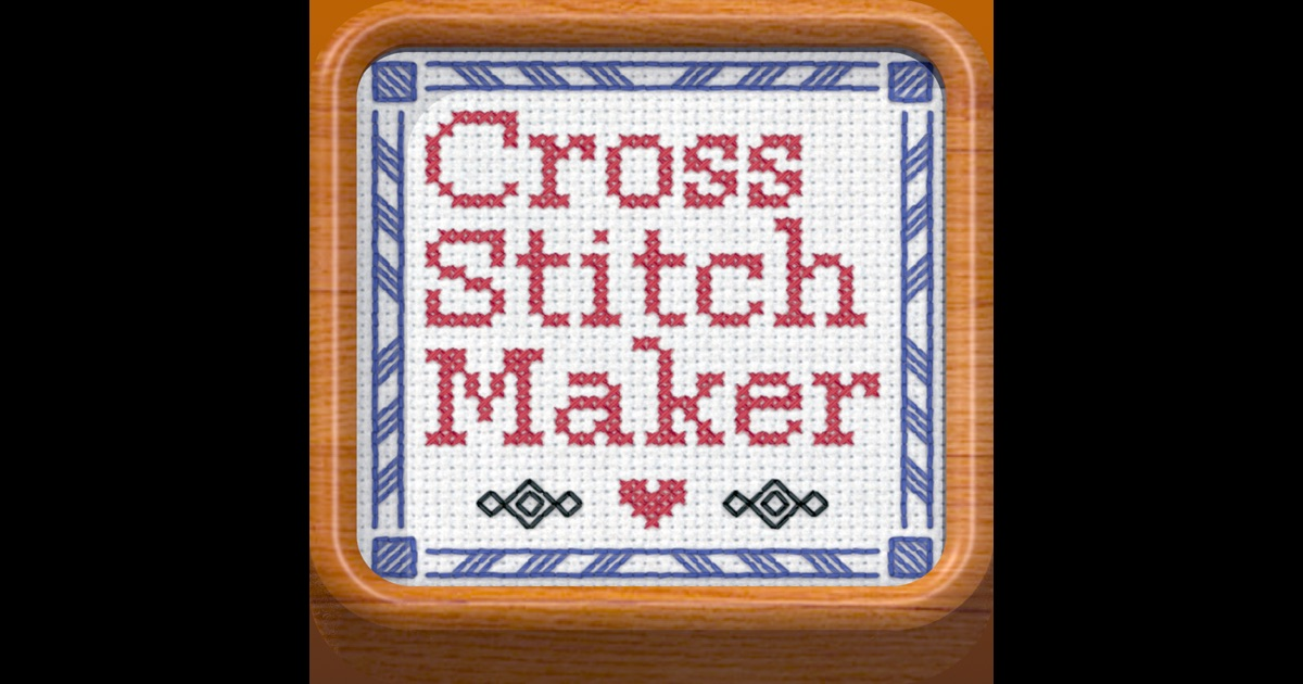 Cross stitch maker draw realistic embroidery on the app