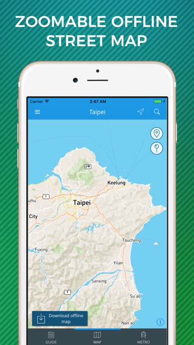 Taipei Travel Guide with Offline Street Map screenshot three