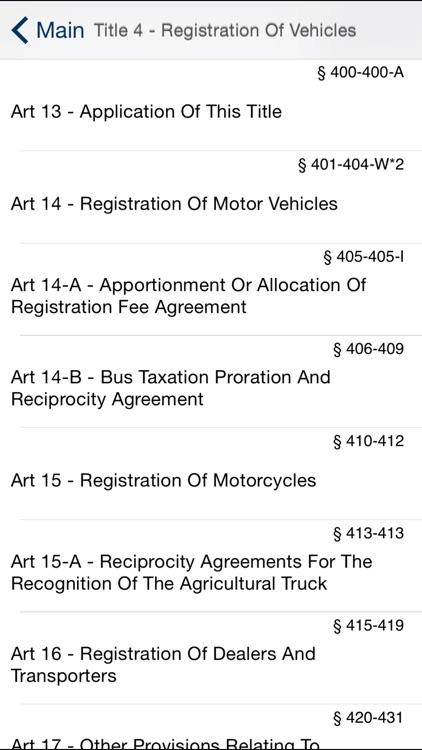 NY Vehicle and Traffic Law 2017 - New York VTL screenshot-4