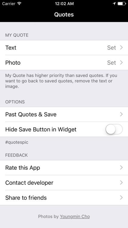 Quotes in Widget screenshot-4