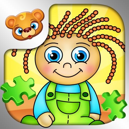123 Kids Fun PUZZLE GREEN- пазлов для дошкольников