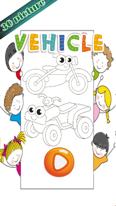 Learning Vehicles Coloring Markers Easy For Kids screenshot one