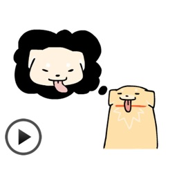 Moving Cute Dog Stickers