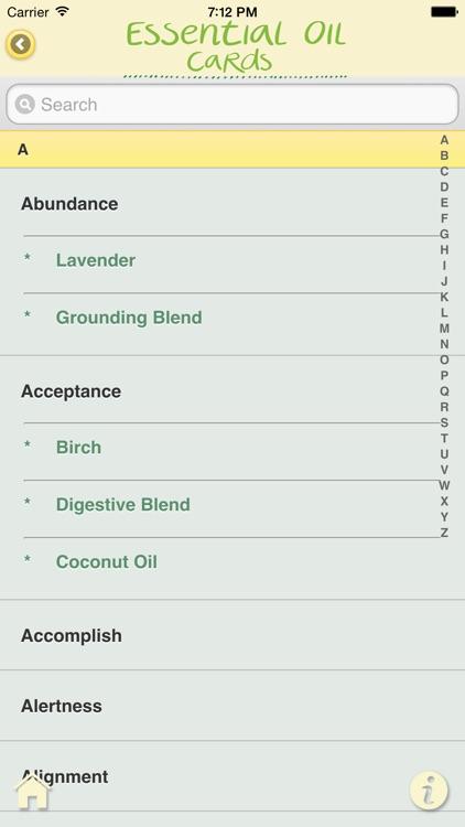 Essential Oil Cards screenshot-3