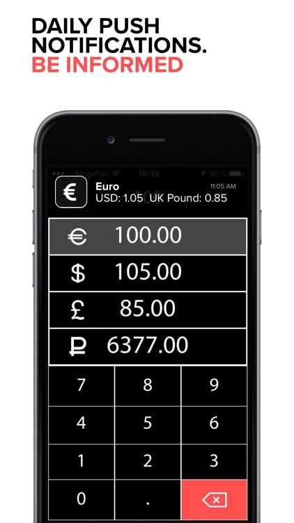 EURO exchange rate to USD screenshot-3