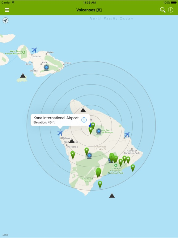 Volcanoes: Map, Alerts & Ash-ipad-2