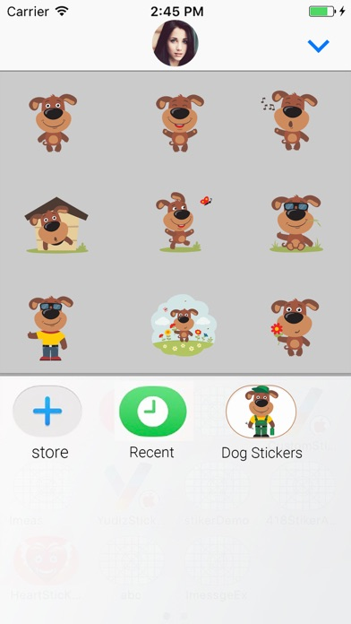Puppy Dog : Funny Stickers screenshot four