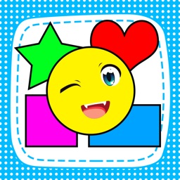 Shapes and colors smile to smart children playing