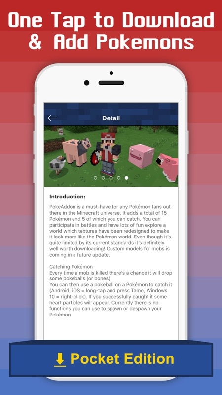 Free Addons for Minecraft PE - add ons for pokemon - Online