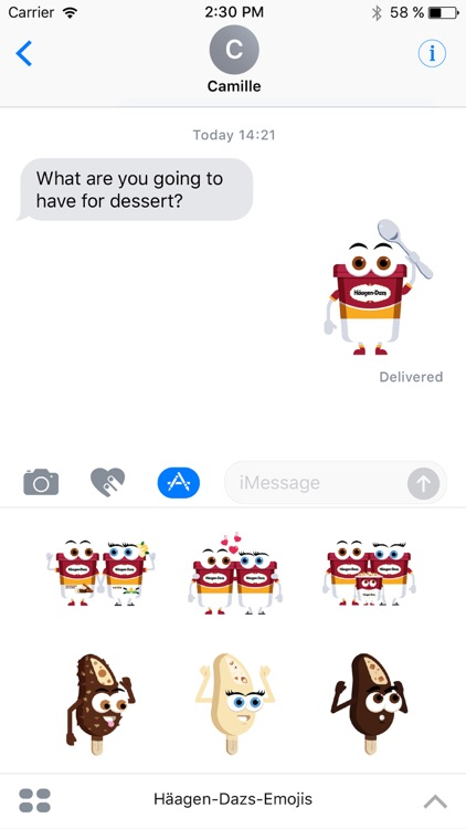 Häagen-Dazs-Emojis screenshot-0