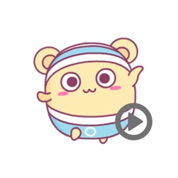 Shiro Hamster 2 animated sticker