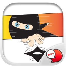 Ninja boy Stickers Emoji Keyboard By ChatStick
