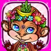 Nature Colouring Pages Monkey Lion Book for Adults