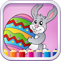 Coloring Games For Kids Easter - Finger Paint