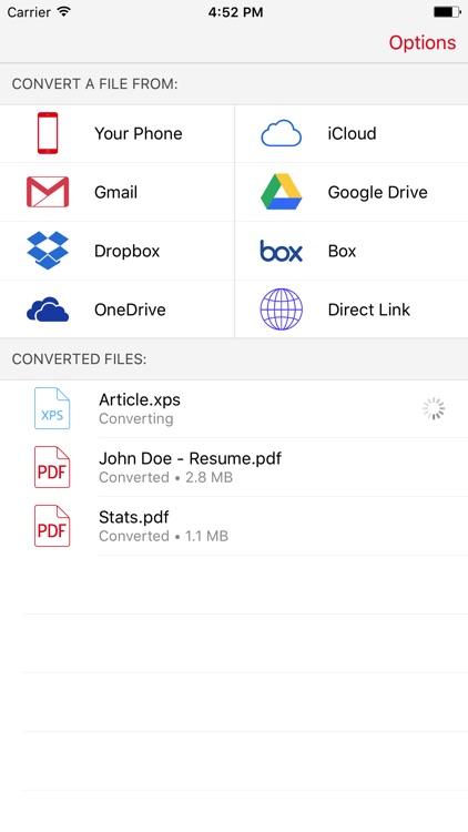 XPS to PDF Converter - Convert XPS files to PDF