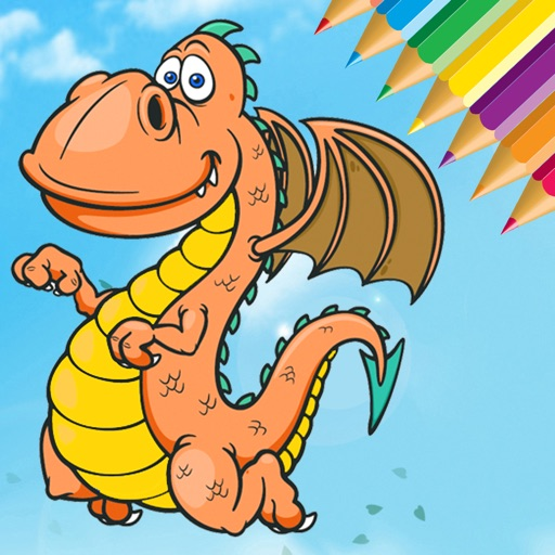 Dragon Dinosaur Coloring Book - Dino Kids All In 1 iOS App