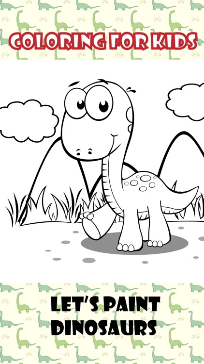 Dinosaurs Coloring Book For Kids Preschool Toddler App Image