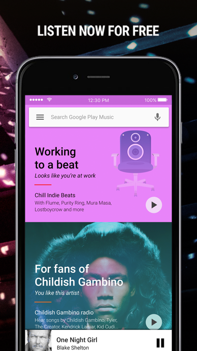 Screenshot for Google Play Music in Portugal App Store