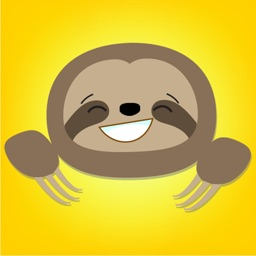 Cute Sloth Face Emojis Sticker Pack