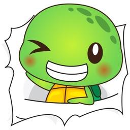 Pura the funny turtle 6 for iMessage Sticker