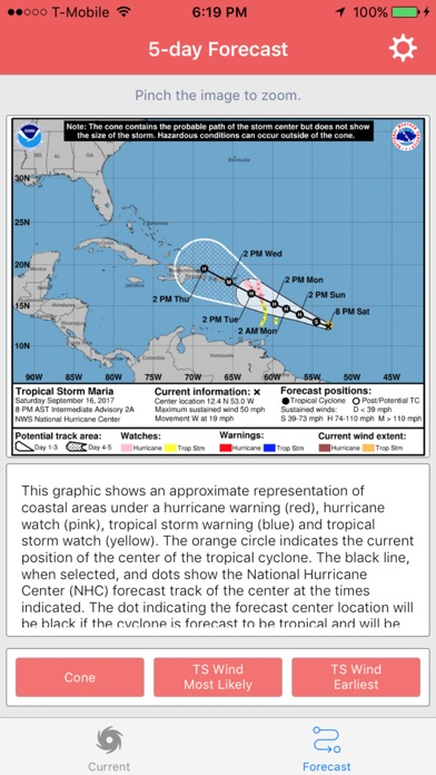 Hurricane Maria Storm Tracker screenshot 2