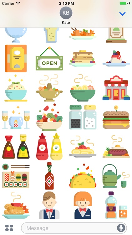FoodMoji - Delicious Dinner Stickers screenshot-3