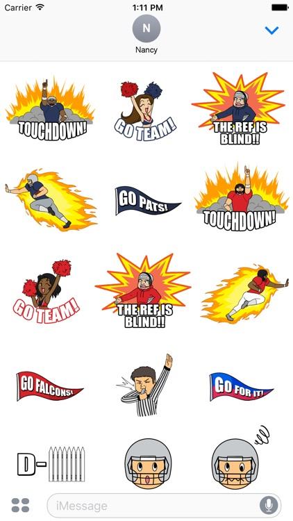 Go Patriots Go Falcons Stickers
