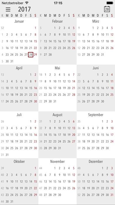 Cali - Die Kalender AppScreenshot von 3