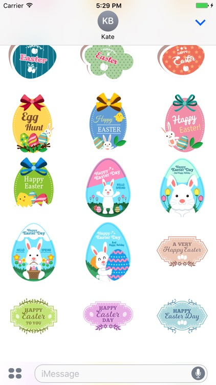 Easter Badge Pack for Messaging