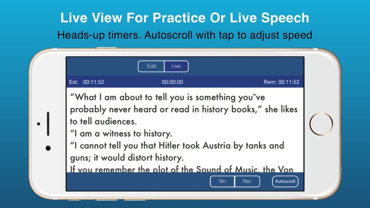 Public Speaking Teleprompter Presenter Audio/Video screenshot-4