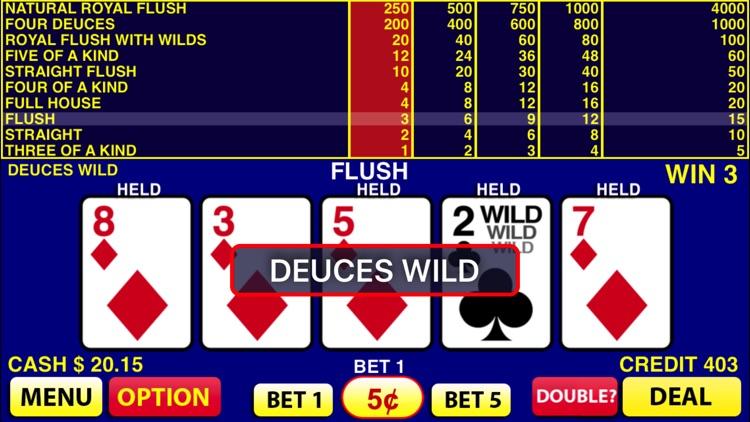 Deuces Wild Video Poker screenshot-3