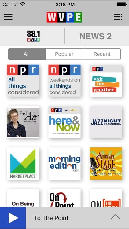WVPE Public Radio App screenshot-3