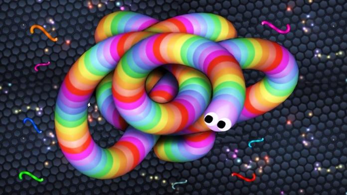 Slither Dash - Rolling Color.IO Snake Flip Game Screenshot