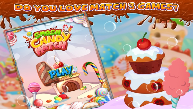 Smash Candy Match 3 - Match Three Games screenshot-3