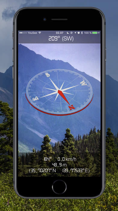 Screenshot #1 pour 3D Compass - Augmented Reality