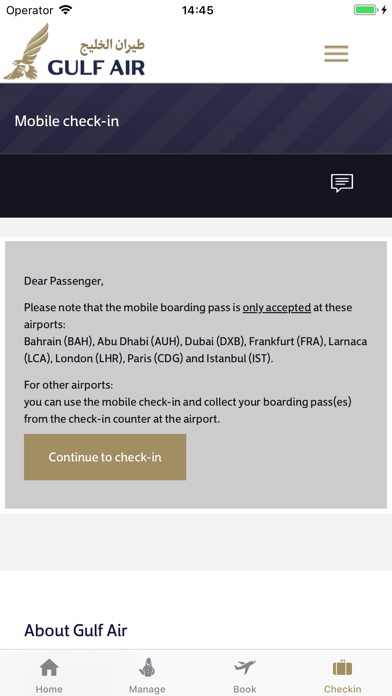 Screenshot for Gulf Air in Colombia App Store