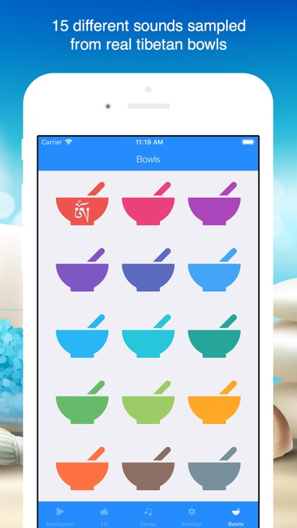 Tibetan Bowls Mindfulness Bell screenshot-0