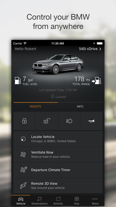 BMW Connected by BMW (iOS, United States) - SearchMan App