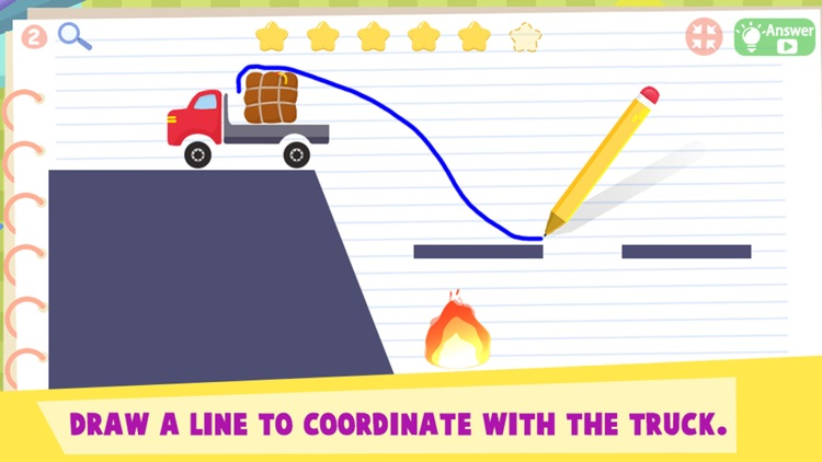 Truck vs Fire: Brain Challenge