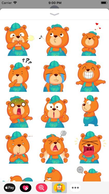 Gấu Pô Sticker