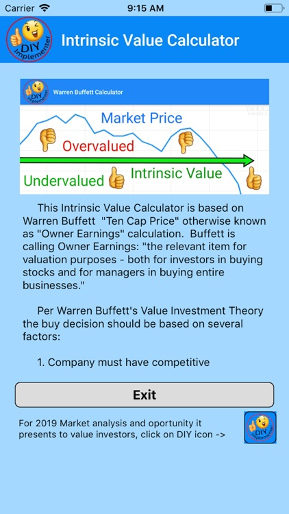 Intrinsic Value Calculator DIY